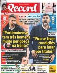 capa Jornal Record de 4 maio 2019