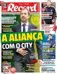 capa Jornal Record de 10 maio 2019
