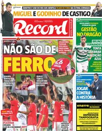 capa Jornal Record de 14 maio 2019