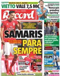 capa Jornal Record de 15 maio 2019