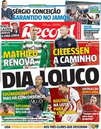 capa Jornal Record de 22 maio 2019