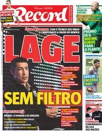 capa Jornal Record de 24 maio 2019
