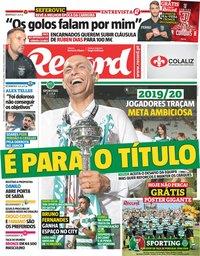 capa Jornal Record de 27 maio 2019