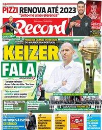 capa Jornal Record de 28 maio 2019