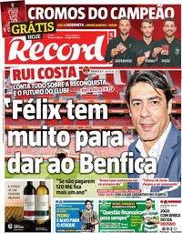 capa Jornal Record de 29 maio 2019