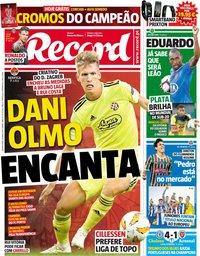 capa Jornal Record de 30 maio 2019