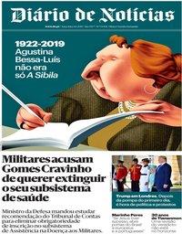 capa Diário de Notícias de 4 junho 2019