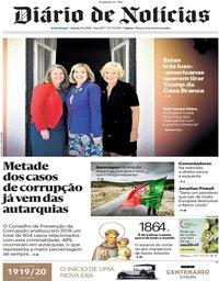 capa Diário de Notícias de 8 junho 2019