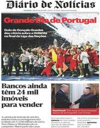 capa Diário de Notícias de 10 junho 2019