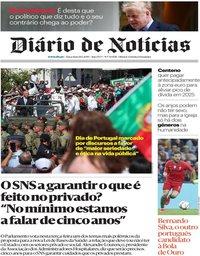 capa Diário de Notícias de 11 junho 2019