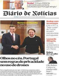 capa Diário de Notícias de 12 junho 2019