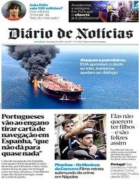 capa Diário de Notícias de 14 junho 2019