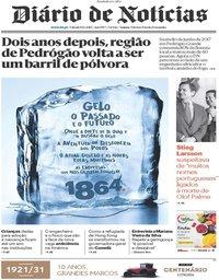 capa Diário de Notícias de 15 junho 2019