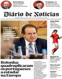 capa Diário de Notícias de 19 junho 2019