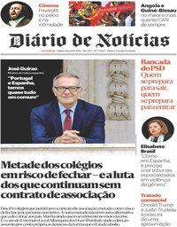capa Diário de Notícias de 20 junho 2019