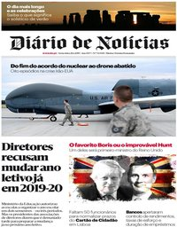 capa Diário de Notícias de 21 junho 2019
