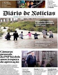 capa Diário de Notícias de 27 junho 2019