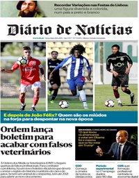 capa Diário de Notícias de 28 junho 2019