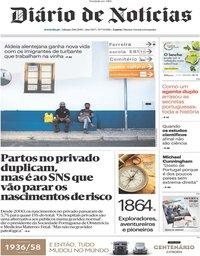 capa Diário de Notícias de 29 junho 2019