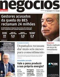 capa Jornal de Negócios de 3 junho 2019