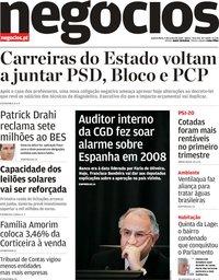 capa Jornal de Negócios de 5 junho 2019
