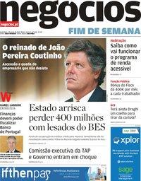 capa Jornal de Negócios de 7 junho 2019