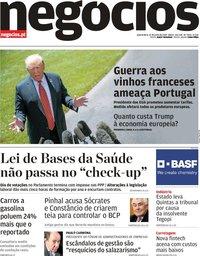 capa Jornal de Negócios de 12 junho 2019