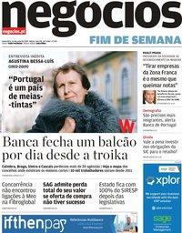 capa Jornal de Negócios de 14 junho 2019