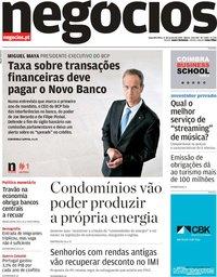 capa Jornal de Negócios de 17 junho 2019