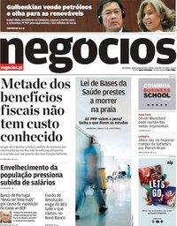 capa Jornal de Negócios de 18 junho 2019