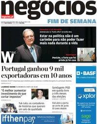 capa Jornal de Negócios de 21 junho 2019