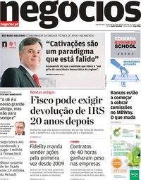 capa Jornal de Negócios de 24 junho 2019