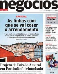 capa Jornal de Negócios de 25 junho 2019