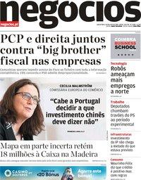 capa Jornal de Negócios de 26 junho 2019