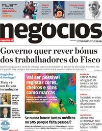 capa Jornal de Negócios de 27 junho 2019
