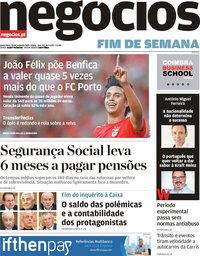 capa Jornal de Negócios de 28 junho 2019