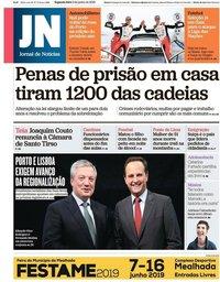 capa Jornal de Notícias de 3 junho 2019