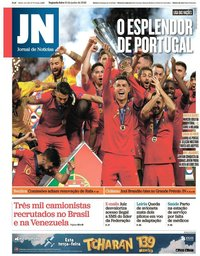 capa Jornal de Notícias de 10 junho 2019