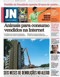 capa Jornal de Notícias de 12 junho 2019
