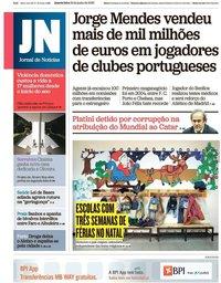 capa Jornal de Notícias de 19 junho 2019