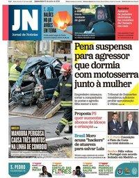 capa Jornal de Notícias de 20 junho 2019