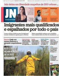 capa Jornal de Notícias de 21 junho 2019