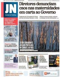 capa Jornal de Notícias de 22 junho 2019