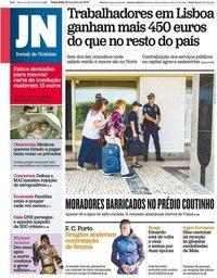 capa Jornal de Notícias de 25 junho 2019