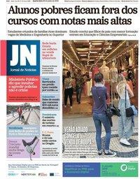 capa Jornal de Notícias de 26 junho 2019