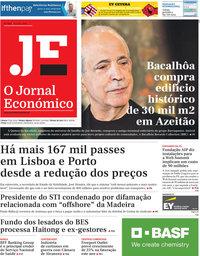 capa Jornal Económico de 14 junho 2019