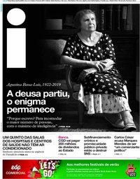 capa Jornal i de 4 junho 2019