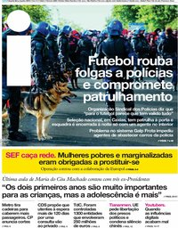 capa Jornal i de 5 junho 2019