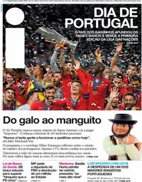 capa Jornal i de 10 junho 2019