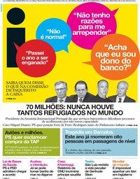 capa Jornal i de 20 junho 2019